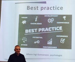 Was ist BEST PRACTICE? Johann Ingi Gunnarson erklärte, was Sportpsychologie für ihn ausmacht. © privat
