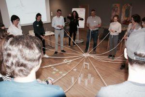 """""""Analoge Netzwerke fördern!"""", als Devise zum Abschluss eines Nachmittags mit tollem Austausch und allerhand spannender Diskussionen © Südtiroler Sporthilfe"""