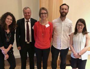 Mit Prof. Manfred Spitzer, Dr. Andrea Koschier, Mag. Georg Hafner und Madeleine Eppensteiner, MSc bei der diesjährigen BÖP Jahrestagung © privat