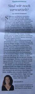 Tiroler Tageszeitung Gastkommentar 04.09.2019
